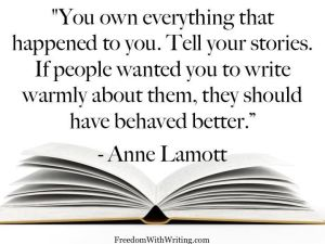 anne lamott on write the truth