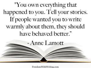 anne lamott on write the truth
